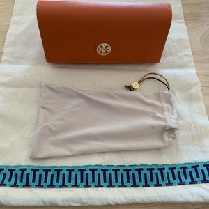 NWT- Tory Burch Sunglass Case And Dust Bag